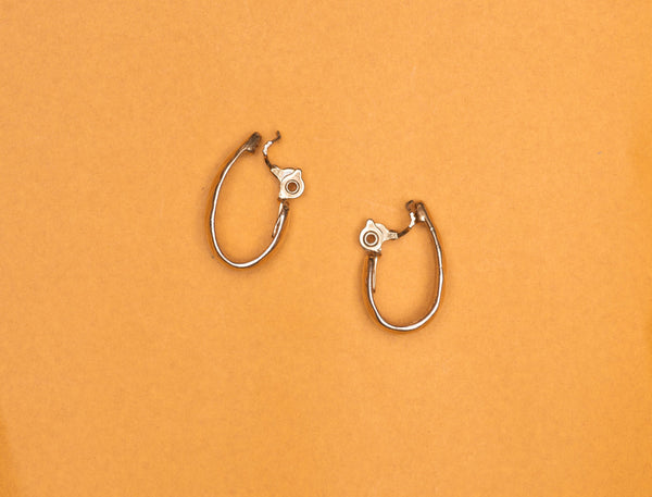 Vintage Gold Oval Hoop Earrings