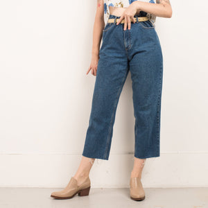 Vintage Raw Hem Denim Pants / M/L