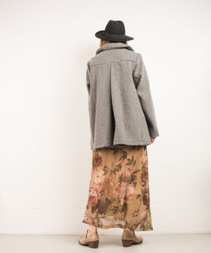 Vintage Grey Wool Coat / S - Closed Caption