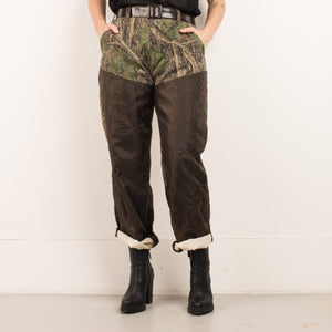 Vintage Camo Colorblock Pants / M/L