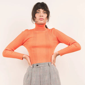 Vibrant Orange Vintage Turtleneck / S/M