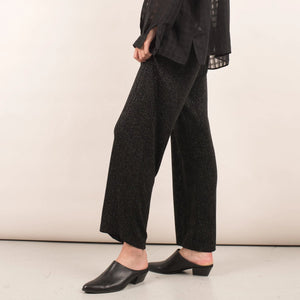 Vintage Relaxed Black Sparkle Pants / S