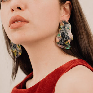 Abstract Oversized Pastel Confetti Earrings