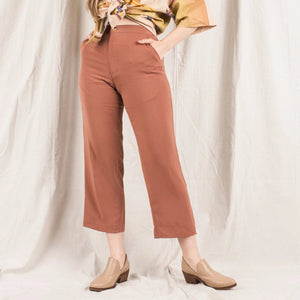 Vintage Light Weight Terracotta Slacks / S/M