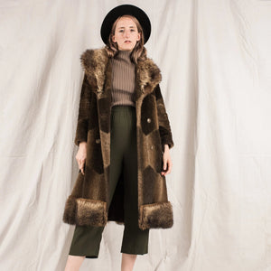 Vintage Muskat Chocolate Fur Coat  / S