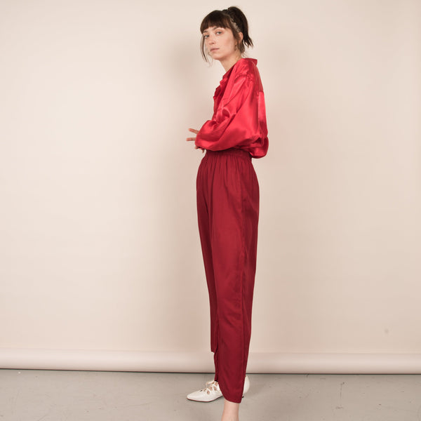 Vintage Cranberry Easy Pants  / S/M