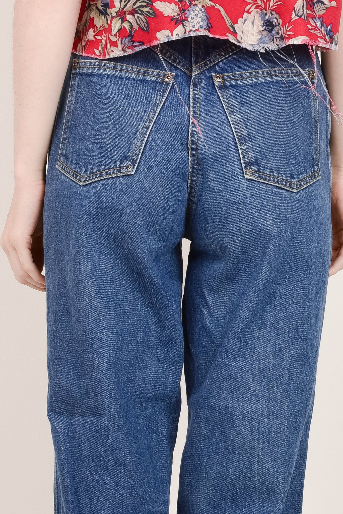 Vintage Medium Wash High Rise ROCKY MOUNTAIN Denim Pants  / S