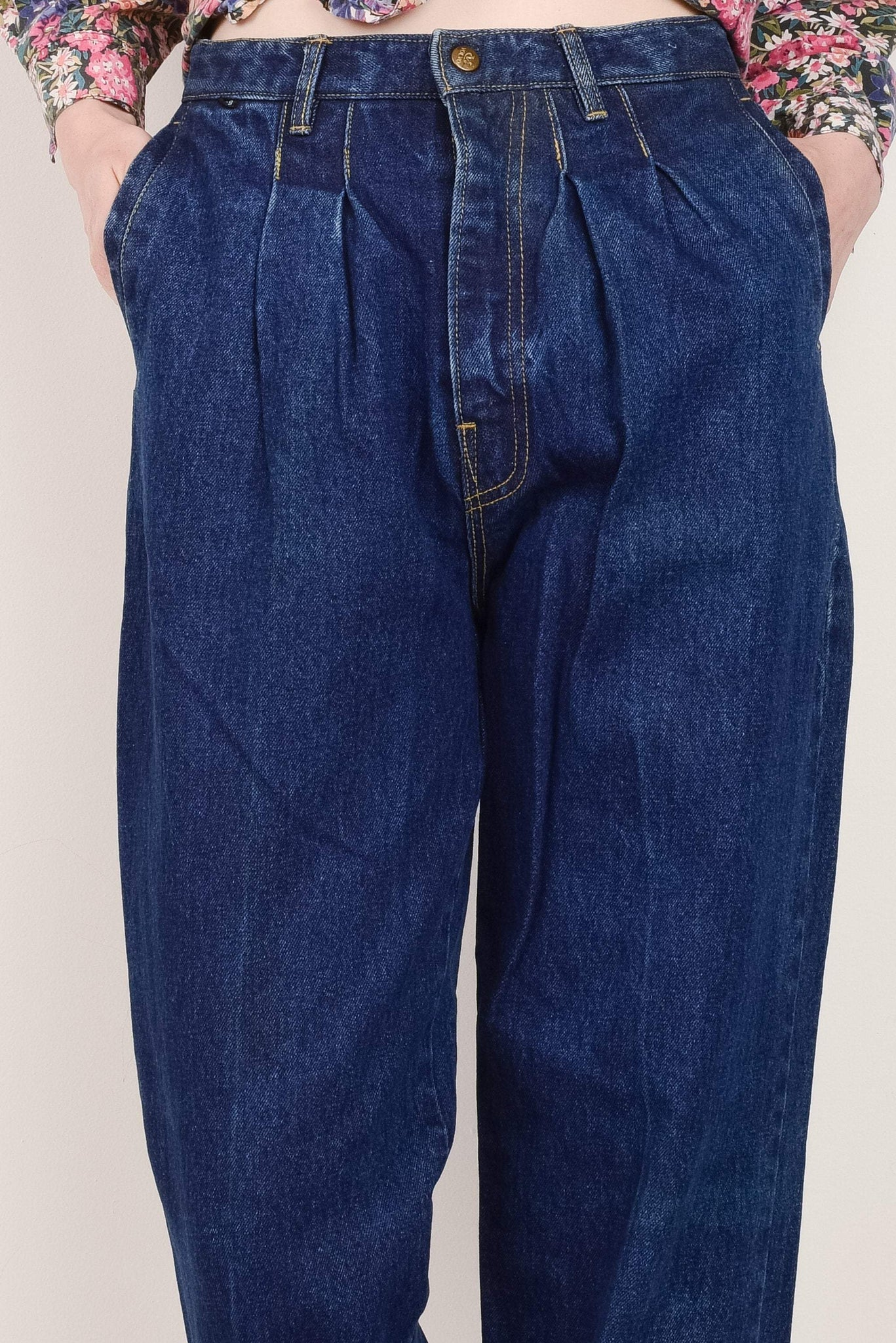 Vintage RARE Dark Wash VOLVO Denim Pants  / S