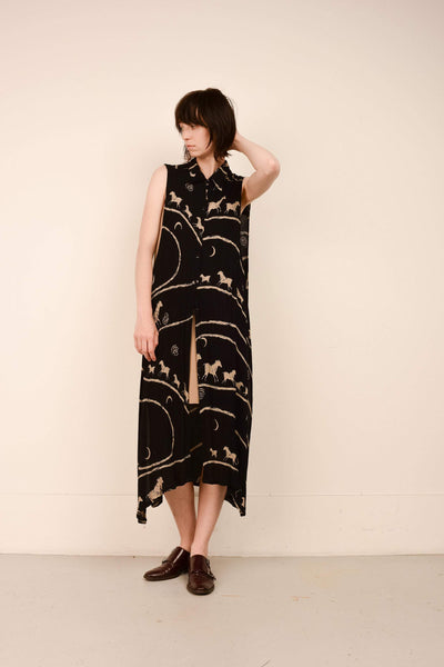 Vintage Oversized Sleeveless Horse Duster / S/M/L