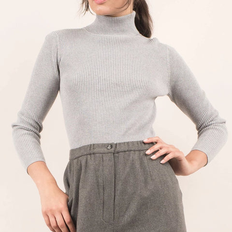 Vintage Soft Grey Turtle Neck / S/M