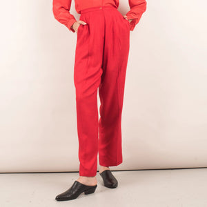 Vintage Red Tailored Pants / S/M