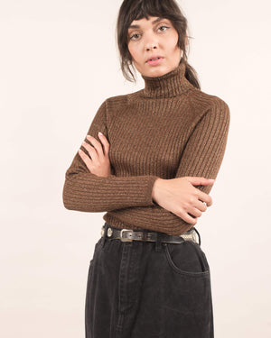 Vintage Glitter Knit Turtleneck / S/M