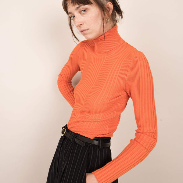 Vintage Cheetos Ribbed Turtleneck / S/M