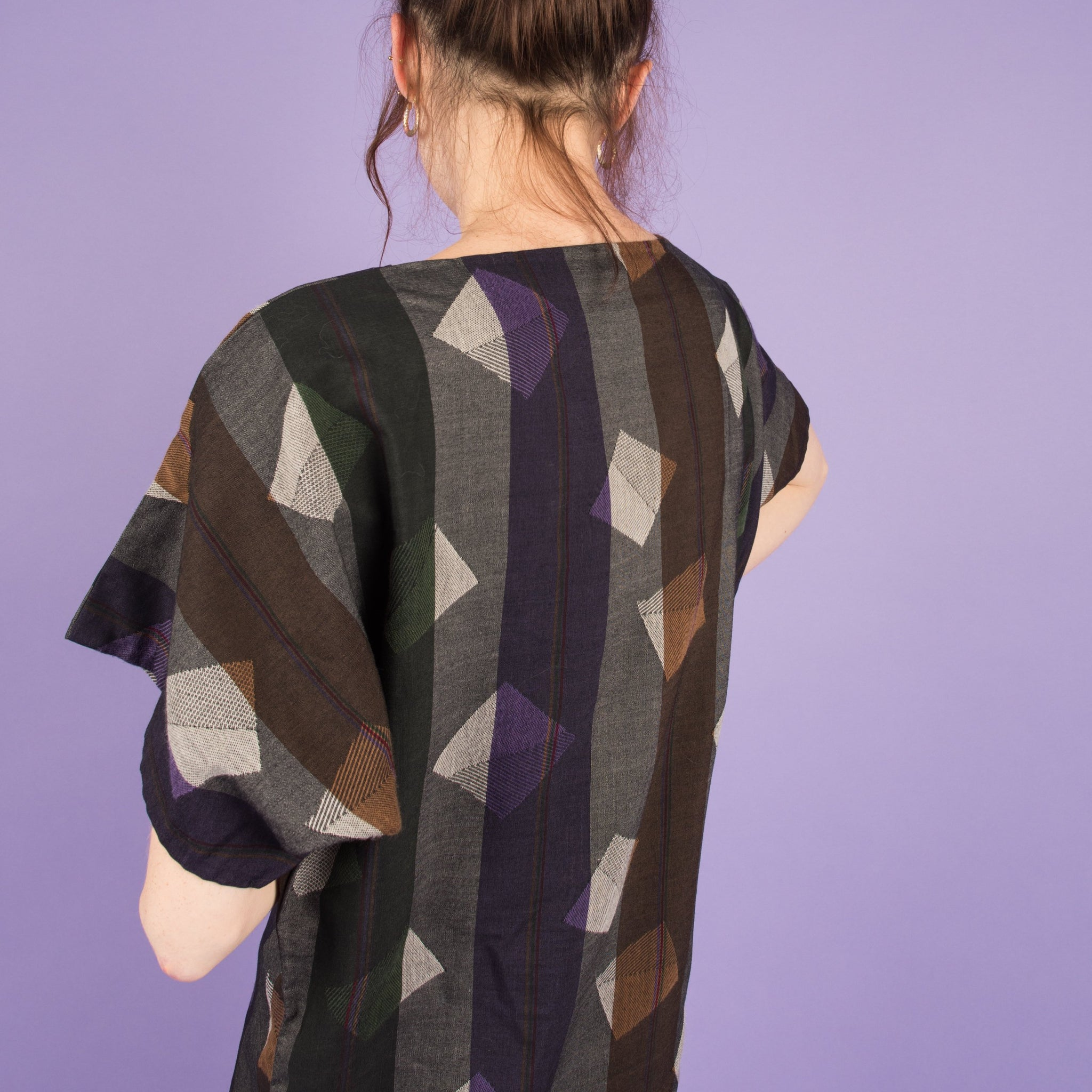 Vintage Abstract Geometric Dress  / S