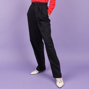 Vintage Navy Pinstripe Trousers / S/M - Closed Caption
