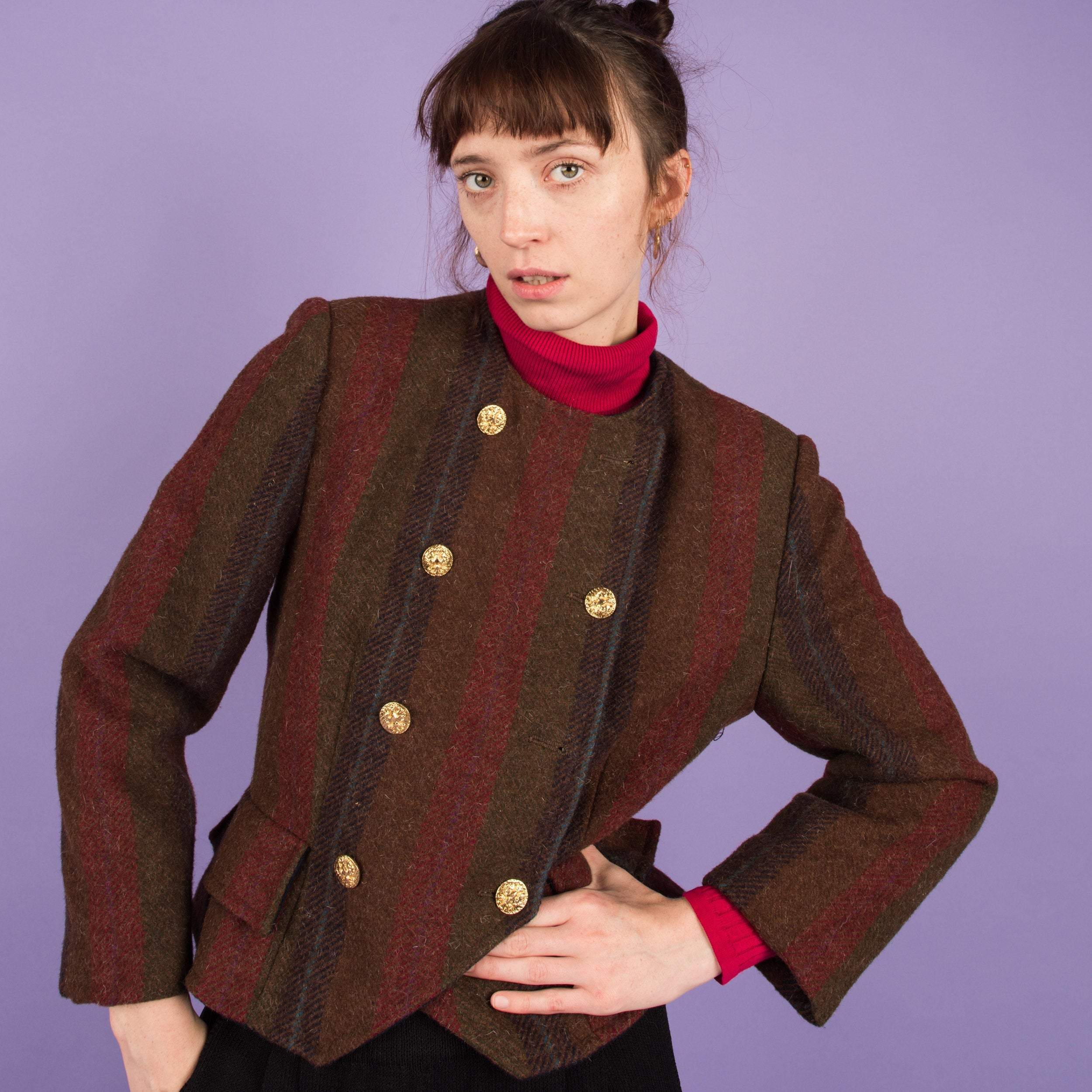 Vintage Wool Cropped Trachten Jacket / S