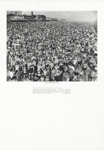 Weegee poster - Crowd at Coney Island, 1940 (ref 11)