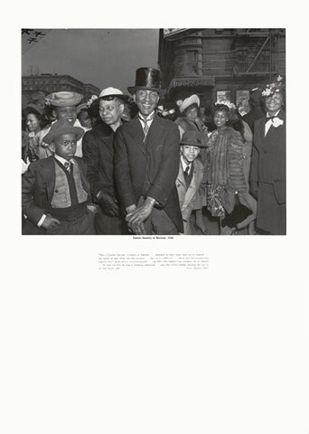 Weegee poster - Easter Sunday in Harlem, 1940 (ref 8)