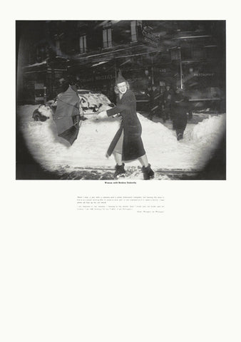 Weegee poster - Woman with Broken Umbrella (ref 2)