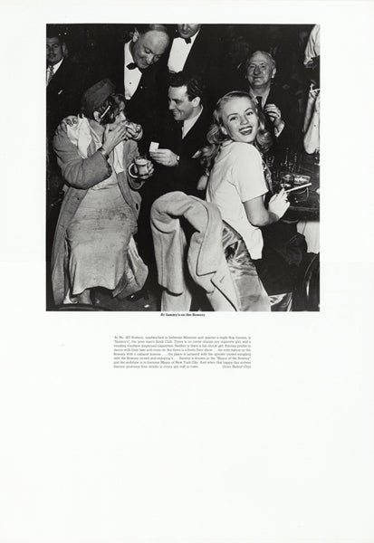 Weegee poster - At Sammy's-on-the-Bowery (ref 6)