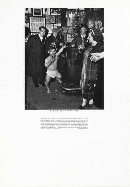 Weegee poster - New Year's Eve at Sammy's-on-the-Bowery, 1943 (ref 3)