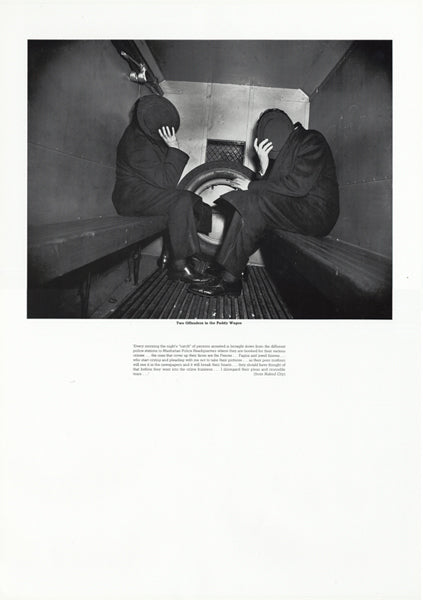 Weegee poster - Two Offenders in the Paddy Wagon (ref 7)