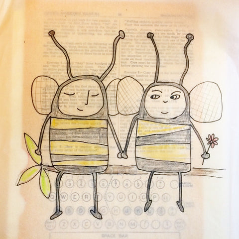 Bee friends drawing