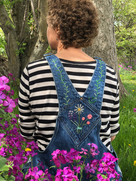 embroidery overalls back