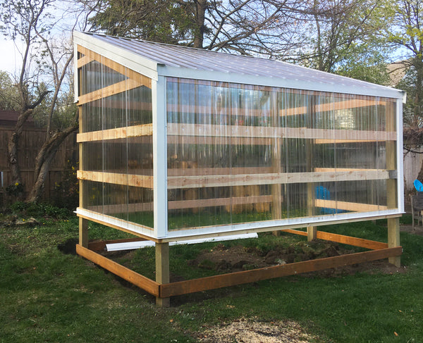 greenhouse being built