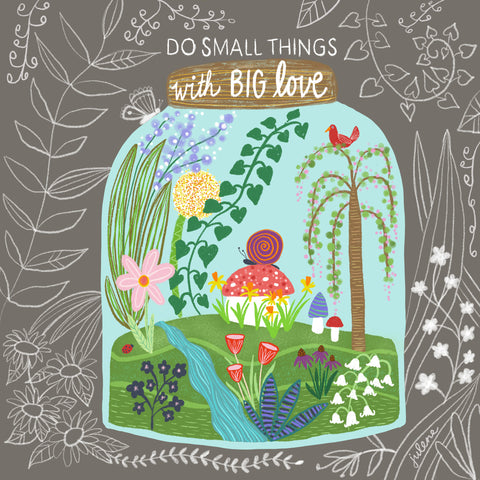 Big Love Garden Jar - Greeting Card