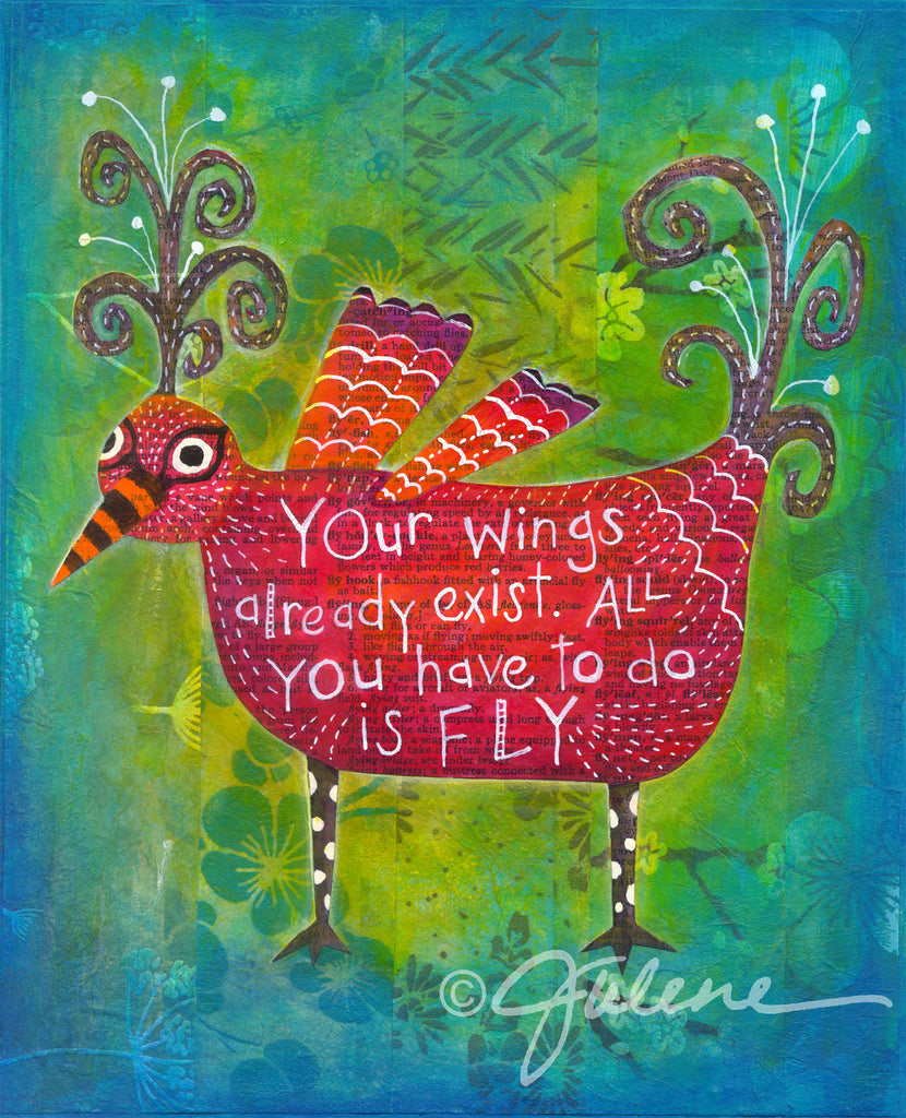 You Already have Wings - Print