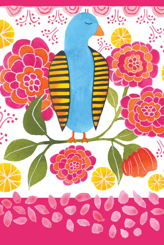 Bashful bird - postcard