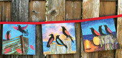 Crows Happy Flags