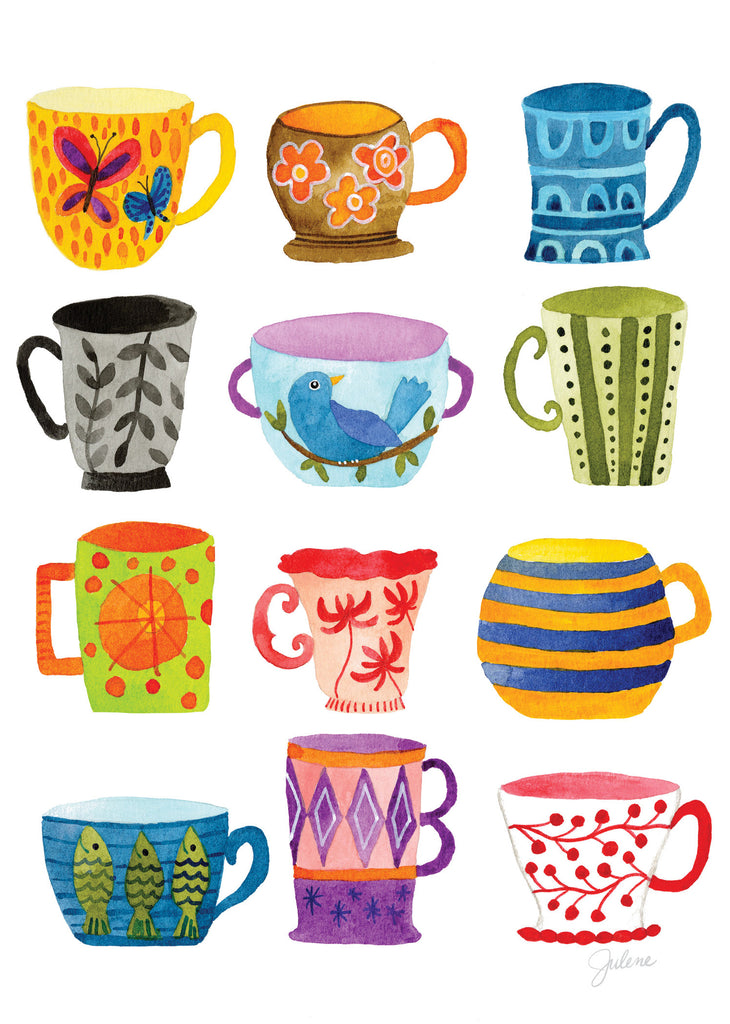 Amazing mugs of Love greeting card