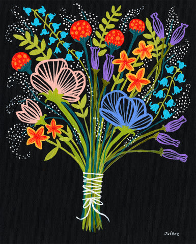 wildflower bouquet - Print