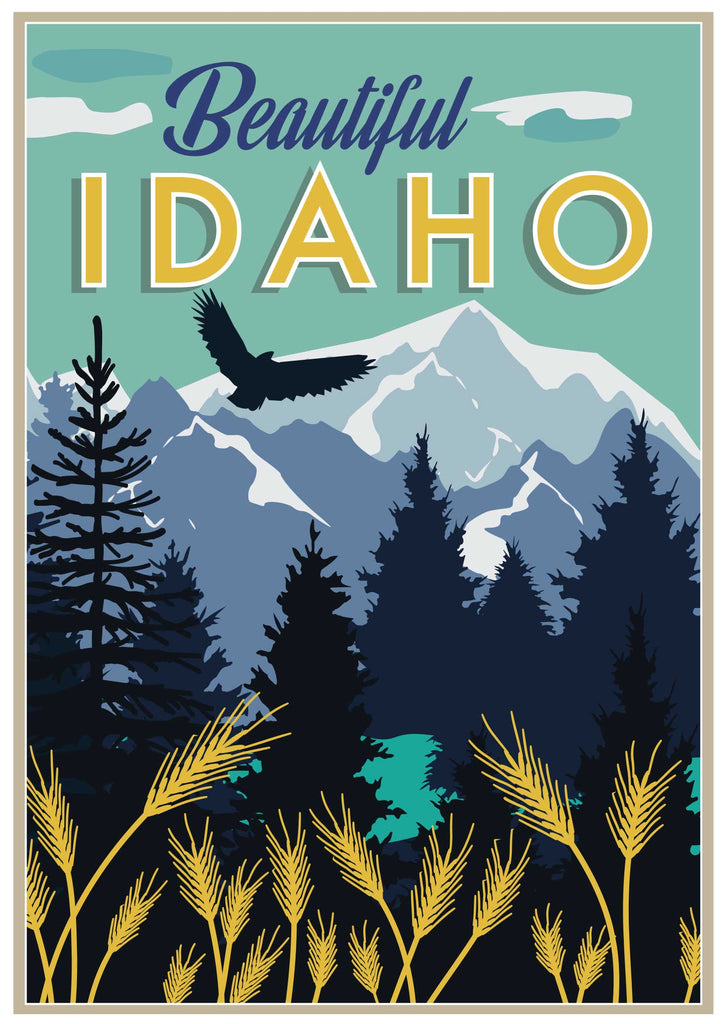 Beautiful Idaho greeting card