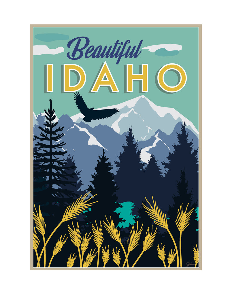 Beautiful Idaho - print