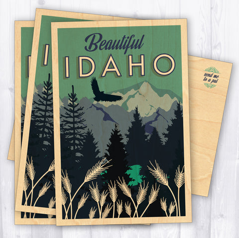 Idaho Wood Postcards