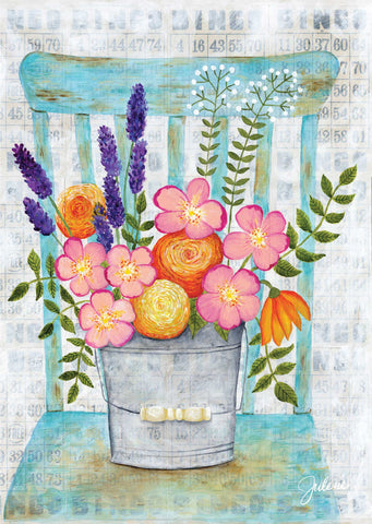 Wildflowers Chair greeting card