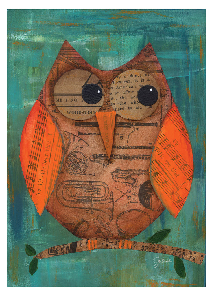 Musical Owl greeting card