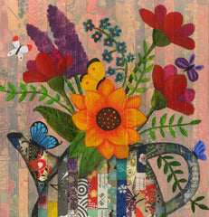 Teapot of Flowers & Butterflies - Print