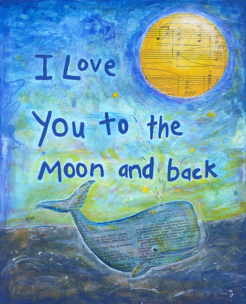 Love You to the Moon - Print