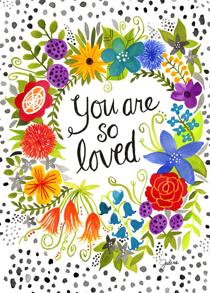 You are so loved greeting card