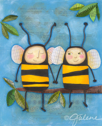 Bee Friends print
