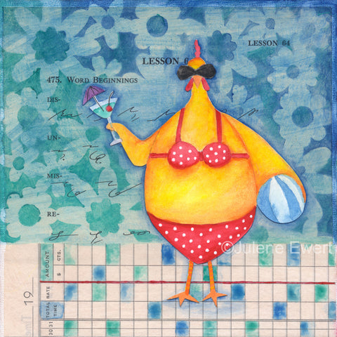 bikini martini chicken - Print