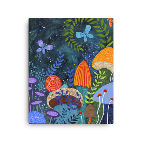 Magical Mushrooms Printed Canvas