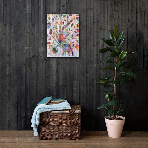 Deep-Rooted Beginnings Tree Printed Canvas