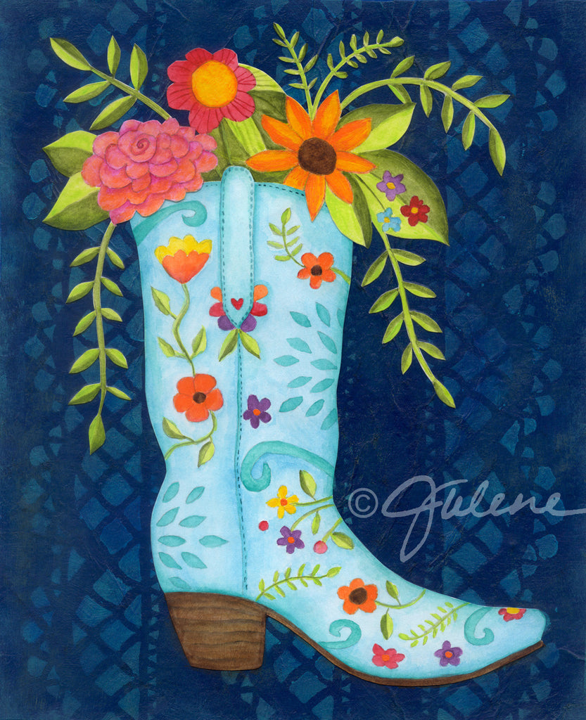 Cowgirl Boots print
