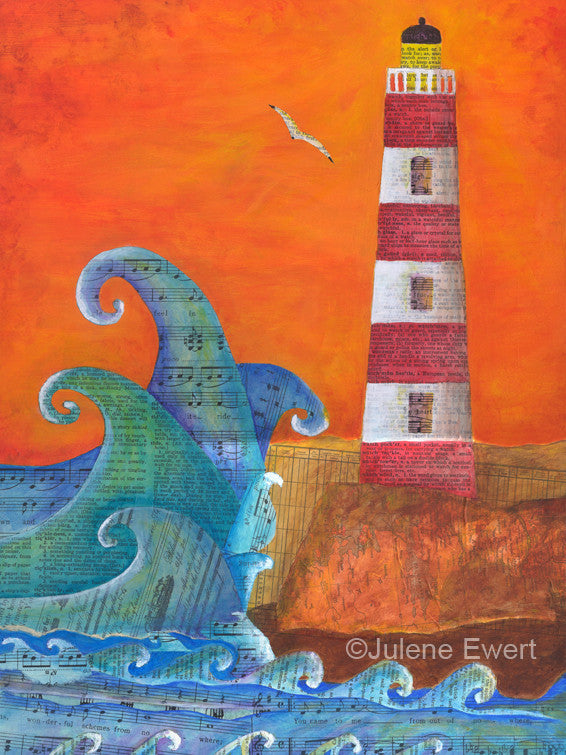 Out of Nowhere Lighthouse - Print