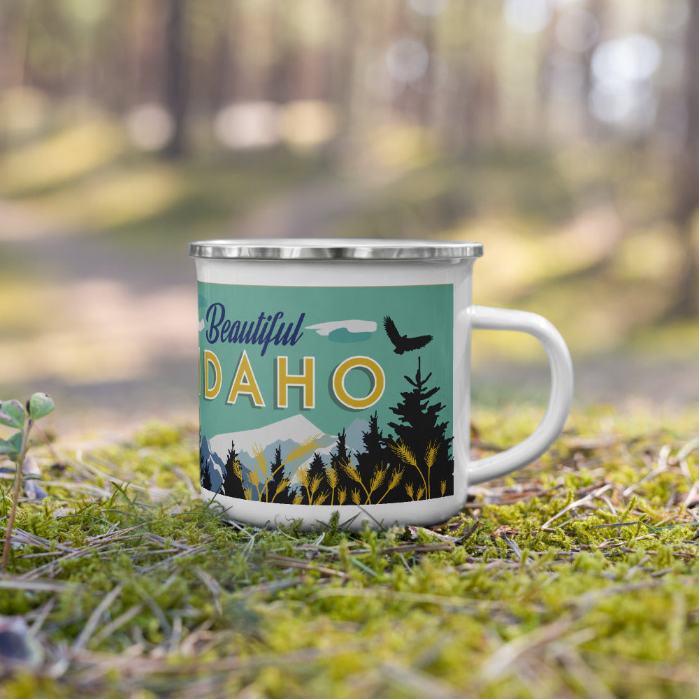 Beautiful Idaho Enamel Mug